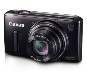 Canon PowerShot SX 240 HS Digitalkamera (12,1 Megapixel, 20-fach opt. Zoom, 7,6 cm (3 Zoll) Display, bildstabilisiert) schwarz inkl. Vsk für ca. 168 € [Amazon.uk]