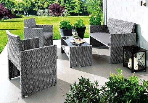 Lokal Segmüller Weiterstadt, Parsdorf, Friedberg 4-tlg. Lounge Set Claus mit Sitzkissen UVP 449 € für 139 € mit Gutschein