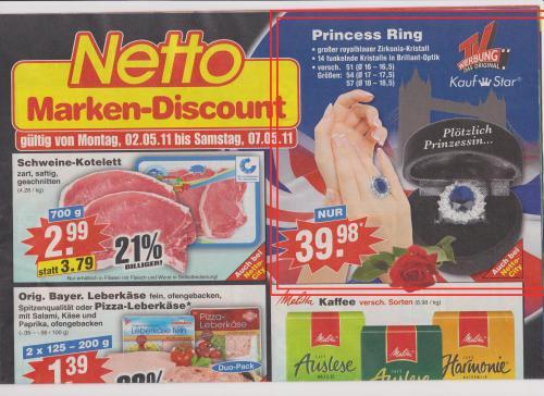 Princess Ring bei Netto [OFFLINE] ...sich fühlen wie Kate (oder Diana)
