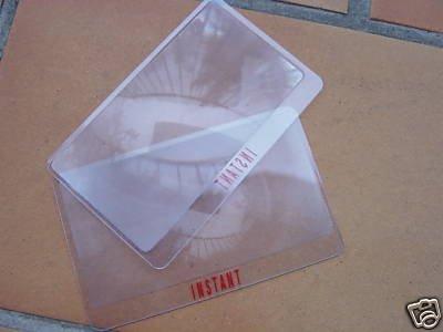 2x Blattlupe im Visitenkartenformat für nur 1,- EUR + 0,58 EUR Versand