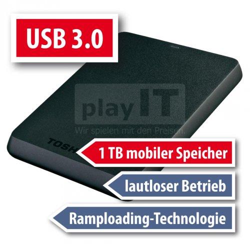 1TB externe USB 3.0 Festplatte von Toshiba bei playIT.de nur 55,55€