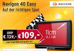 Navigon 40 Easy - > A.T.U. -> 109 EUR