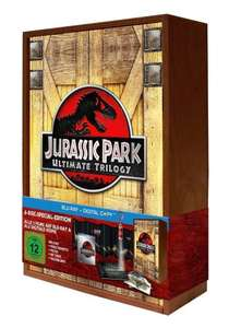 Jurassic Park Ultimate Trilogy - Special Edition in limitierter Holzbox, inkl. Digital-Copy [Blu-ray] @Amazon Blitzdealz