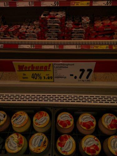 [Lokal]?? Kaufland Solingen,eben entdeckt  Landliebe Fruchtjoghurt für 0.77 cent
