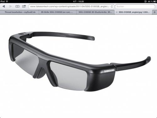 [Online] Samsung 3D Brille SSG-3100GB für unschlagbare 8,49€ @real onlineshop
