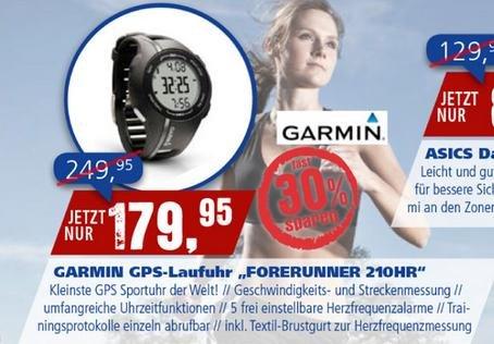 """[LOKAL] GARMIN GPS-Laufuhr """"Forerunner 210HR"""" - Intersport Hallstadt statt 249,95"""