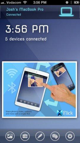 Flick. [iOS - iPhone+iPad] - Teilen/Übertragen von Dateien/Photos/Videos etc. zwischen iPads, iPhones, iPods, Macs, Windows PCs. --- erstmals kostenlos