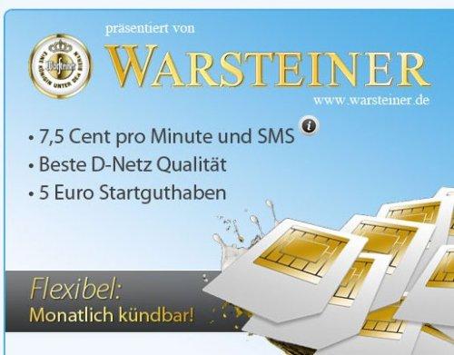 5 Euro Startguthaben bei Warsteiner Aktion von Discotel erhalten