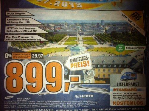 Samsung UE50F6500 TV 899 Euro Saturn Karlsruhe feiert Geburtstag [SATURN KA Lokal]
