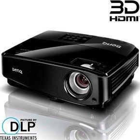 BenQ MS517 DLP Beamer, SVGA, 2.800 ANSI Lumen, 13.000:1 Kontrast 3D-fähig über HDMI  für 269,90€ @ Notebooksbilliger