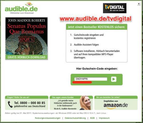 Ein neues gratis Hörbuch bei Audible (Senatus Populus Que Romanus 1)
