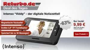 Intenso Viddy Video Messenger (7,1 cm (2,8 Zoll) Display), Kamera, Mikrofon, 3 Speichergruppen, Surprise-Funktion) schwarz @Returbo 6,99€