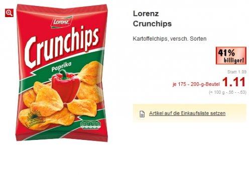 Kaufland  - Lorenz Crunchips und Mars/Twix/Snickers 5er Pack