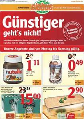[Offline FFM-Hattersheim]: Nutella 450g-Glas bei Globus