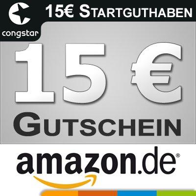 Congstar prepaid Karte mit 15 Euro startguthaben und 15 Euro amazon für 9,99