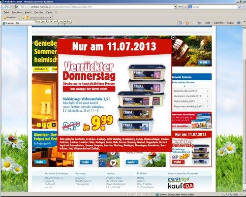 LOKAL: FAUST Wohnraumfarbe bei Praktiker 2,5 Liter für 9,99 € / UVP 24,99 €