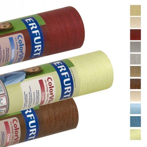 ERFURT COLOR VLIES-TAPETE Crash- und Textil-Optik verschiedene Farben