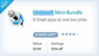 Ondesoft Mini-Bundle mit 9 Apps für nur 9,99$ bzw. 7,78€ - 95% Ersparnis
