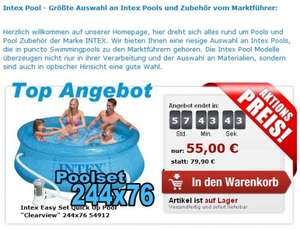 "Intex Easy Set Quick Up Pool ""Clearview"" 244x76"