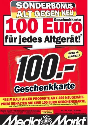 100 Euro für Altgerät Media Markt Zwickau