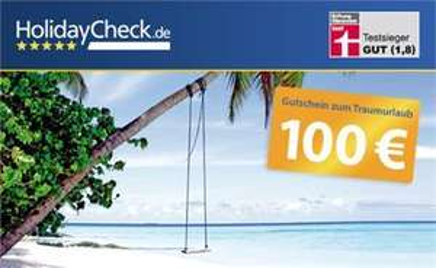 9,99 EUR statt 100 EUR - Auf in die Ferien mit einem Reisegutschein für Pauschal- und Last Minute-Reisen von HolidayCheck! AUSVERKAUFT!!!