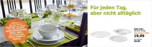 [Offline] IKEA Geschirrserie 365+ (18-teilig) für 19,99 € statt 29,99 € für Family Mitglieder