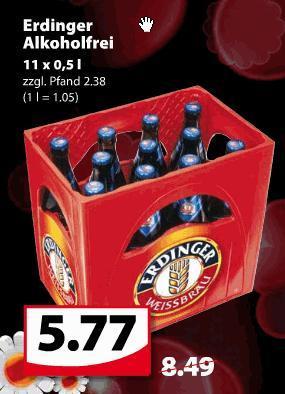 (offline) @Famila-Nordwest: 11er Kiste Erdinger Alkoholfrei für 5,77€