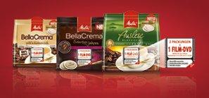 2 Melitta® Kaffee-Pads Packs kaufen und 1 von 5 DVDs Gratis bekommen