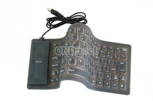 Faltbare flexible USB Tastatur - für nur 5,12 Euro
