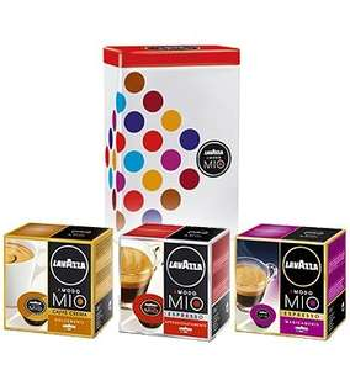 Lavazza A Modo Mio 3 x 16 Kaffeekapseln inkl. Aufbewahrungsdose