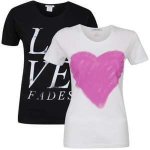 Taylor Women's 2-Pack Heart & Love Fades Graphic T-Shirts für 8.08€ @TheHut