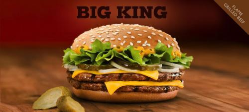 Big King oder Crispy Chicken Menü gegen Feedback