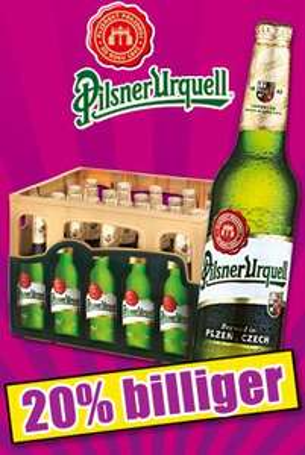 Pilsener Urquell Orginal Bier 20 x 0,5l für 11€ + Crema d'Oro Dallmayr Ganze Bohnen 1kg 8.88€ bei Norma Lebensmittel Discounter