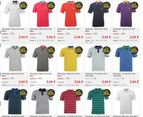 SlazengerYD Stripe Polo Shirt  3,54 + VSK S, XL, 2XL Bis 90% Rabatt !!! sportsdirect.com