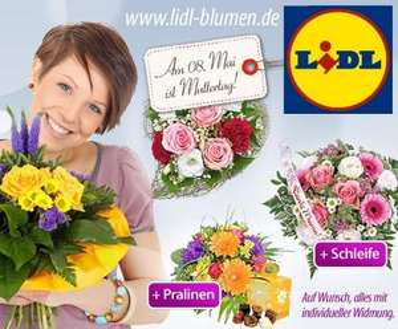 Blumen für den Muttertag bei Dailydeal bei Lidl-blumen.de für 7,50 € statt 15 €