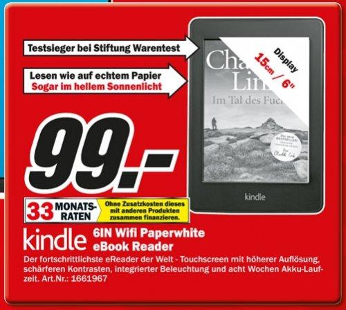 [LOKAL MÜNCHEN] Kindle Paperwhite (WLAN) @ MediaMarkt Drygalski Allee für 99,00 EUR