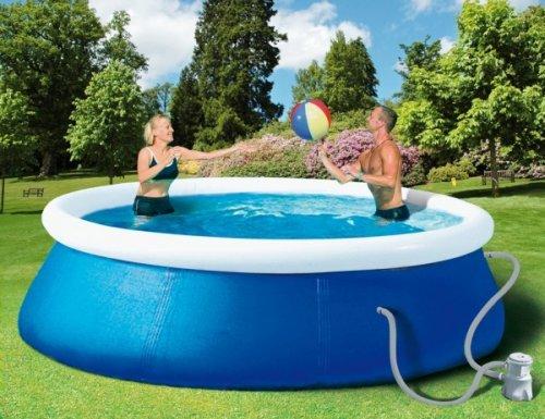 planschbecken.de - quick up Pool Set 240 x 60 cm inkl Pumpe und Abdeckplane