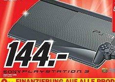 Playstaion 3 Super Slim 12 GB im Mediamarkt Heilbronn für 144 Euro