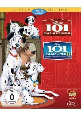 101 Dalmatiner / 101 Dalmatiner 2: Auf kleinen Pfoten zum großen Star! [Blu-ray] für 15,26 € [Amazon.de]