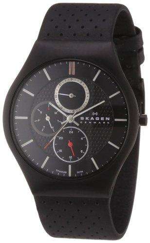 Skagen Herren-Armbanduhr XL Analog Quarz Leder 806XLTBLB @ amazon.de