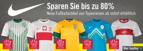 Verschiedene Nike Fußball Trikots für 17,99€ (z.B. Brasilien, Portugal, Zenit St. Petersburg, ...)