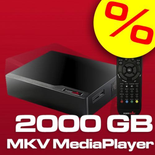 Poppstar 2000 GB MP100 SATA HDMI Mediaplayer MKV H.264 @EBAY WOW