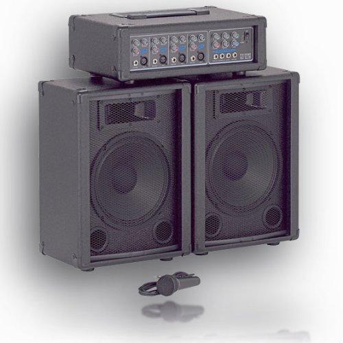 Saugünstige Gesangsanlage / PA System 80 WATT mit Mikro