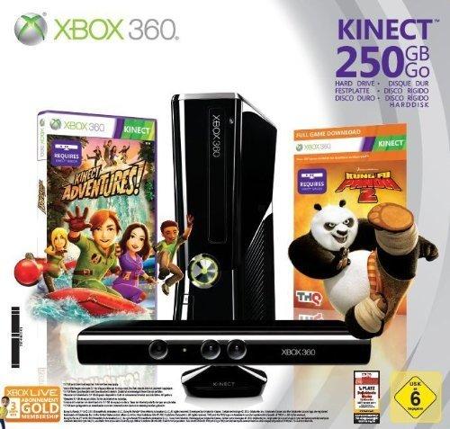 XBox 360 mit 250 GB + Kinect + 5 Games + 3 Monate Goldmitgliedschaft für 259 €