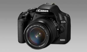 Canon EOS 500 D + 18-55 mm IS und Canon Selphy CP 800 (Fotodrucker)