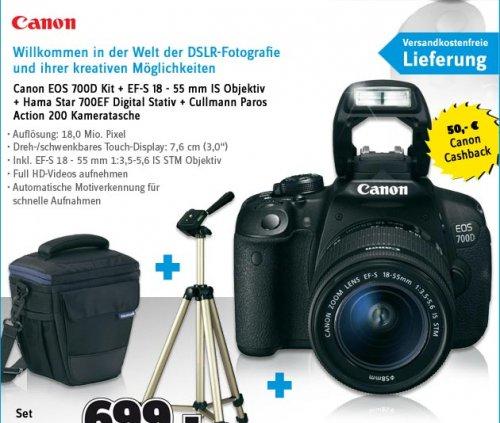 [Conrad] Canon EOS 700D Spiegelreflex-Kamera + Stativ + Tasche+ VSK frei