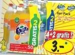 LIDL: Fanta & Sprite Zero 4+2 für 3 €