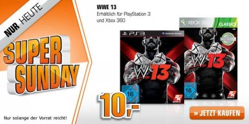WWE 13 für PS3 / XBOX @ Saturn Super Sunday ab 10,00 EUR (+ 1,5 % qipu möglich)