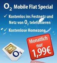 o2 Mobile Flat Aktion - Nur 1,99€ monatlich (rechnerisch)