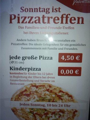 [Lokal: Leipzig] Sonntag ist Pizzatag in Valentinos (10 bis 0 Uhr)